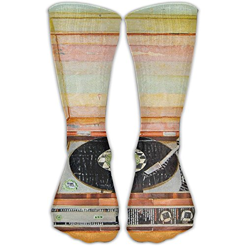 Unisex Classics Socks Vinyl Player Record Art Athletic Stockings 30cm Long Sock One Size
