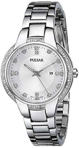 Pulsar Women's PJ2011 Analog Display Japanese Quartz Silver Watch