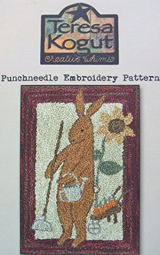 Prim Spring Rabbit PN173 Punchneedle Punch Needle Embroidery Easter Bunny Teresa Kogut Pattern