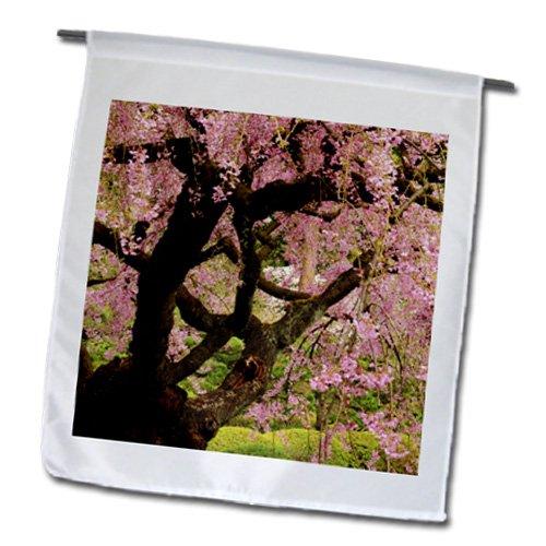 Danita Delimont - Japanese Gardens - Cherry Tree, Japanese Garden, Portland, Oregon, USA - US38 MHE0055 - Michel Hersen - 12 x 18 inch Garden Flag (fl_145947_1)
