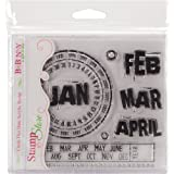 "Stamp & Store Clear Stamps-Circle This Date 6""""X6"