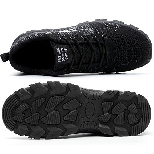 for Men Men Work Toe Boots Shoes Toe SUADEEX Shoes Steel 04 Shoes black Safety Steel 7twaPZqPF