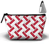 Indonesia Flag Weave Pencil Case Holder Zipper Pencil Bag Makeup Bag Cosmetic Bag Coin Purse Pouch Travel Toiletry Bag Multi-Purpose Bag 8.6 X 2.7 X 4.7''