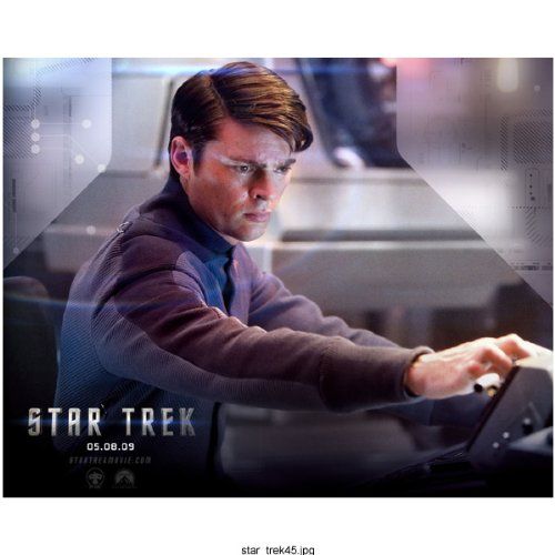 Control Captain (Star Trek Karl Urban at Working Controls on The Enterprise 8 x 10 Photo)