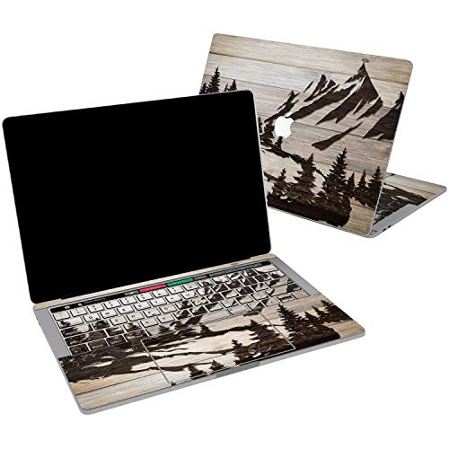 Lex Altern Vinyl Skin for MacBook Air 13 inch Mac Pro 15 Retina 12 11 2019 2018 2017 2016 2015 Travel Wood Mountain Forest Tree Scenic Landscape Touch Bar Wrap ()