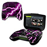 nvidia shield portable - MightySkins Protective Vinyl Skin Decal for NVIDIA Shield Portable cover wrap skins sticker Purple Lightning