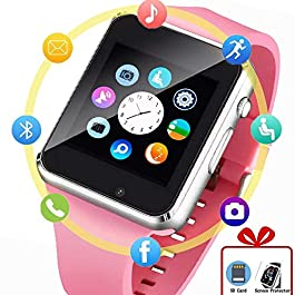 Beaulyn Smart Watch, Android SmartWatch for Women Kids Girls Touch Screen Watch Phone with SD SIM Card Slot Camera…