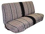 Saddle Blanket Truck Bench Seat Cover Fits Chevrolet, Dodge, Ford Trucks (Black)