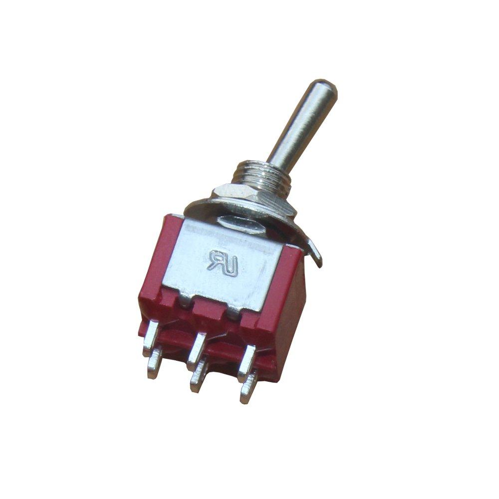 Mintice/™ 10 St/ück Kfz Auto Ein//Aus//Ein 6 Polig Mini Kippschalter Instrumententafel Wippschalter