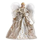 Roman 16'' Christmas Angel with Champagne Gown Treetop Figure