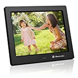 Powerextra 8 inch Digital Photo Frame HD Video Frame High Resolution Widescreen LCD Remote Control - Black