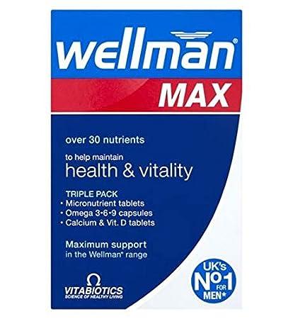 Amazon.com: Vitabiotics Wellman Max - 84 comprimidos: Health ...