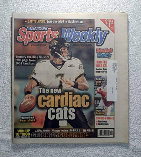Byron Leftwich (Jacksonville Jaguars) - The New Cardiac Cats - Sports Weekly Magazine - October 6, 2004