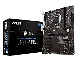 MSI Pro Series Intel Coffee Lake H310 LGA 1151 DDR4 Onboard Graphics ATX Motherboard (H310-A PRO)