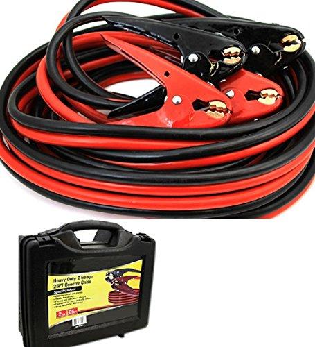 00 Gauge Jumper Cables : Ft heavy duty gauge booster jumper cables parrot jaw