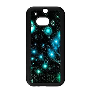 Starry Night Space Nebula Universe Pattern Snap on Hard Plastic Back Case Cover for Personalized Case for HTC One M8 Case-Perfect as Christmas gift(6)