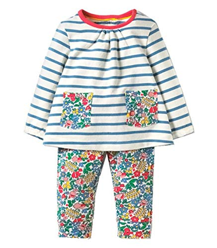 Toddler Baby Girls Clothing Set Cute Print Long Sleeve T Shirt Pants 2pcs Outfits -