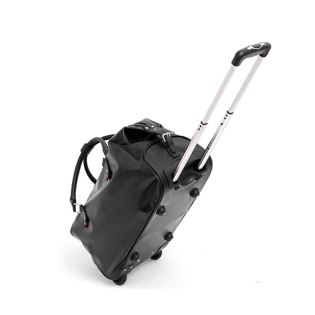 トロリーバッグトラベルバッグ折り畳み式PUキーホール防水女性の手荷物バッグ男性大容量トラベルバッグトロリーケース (Size : L l)   B07K129B86