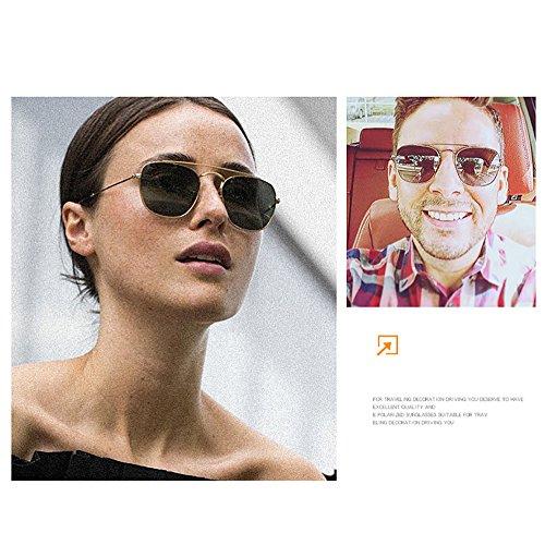 Gris UV para cuadradas a Retro sol Gafas metal Gafas del hechas de de rectangulares100 sol Aviador los de mano diseñador protección Hombres hombres HgHq0wpB