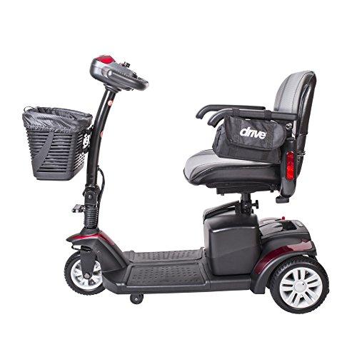 Drive Medical Spitfire132016fs12 Spitfire Ex Travel 3-Wheel Mobility Scooter, 12 Ah Batteries