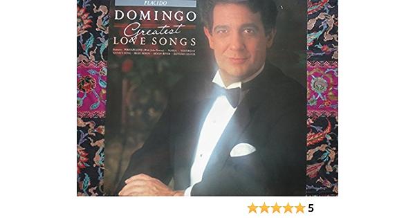 PLACIDO DOMINGO Greatest Love Songs UK LP 1988: Placido ...