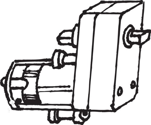 6vdc 45 Rpm Gear Motor With A Right Angle Gearbox Great For