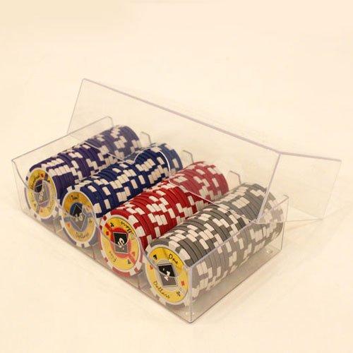 Clear Plastic Poker Chip Storage Box - SET of 5 by tm poker
