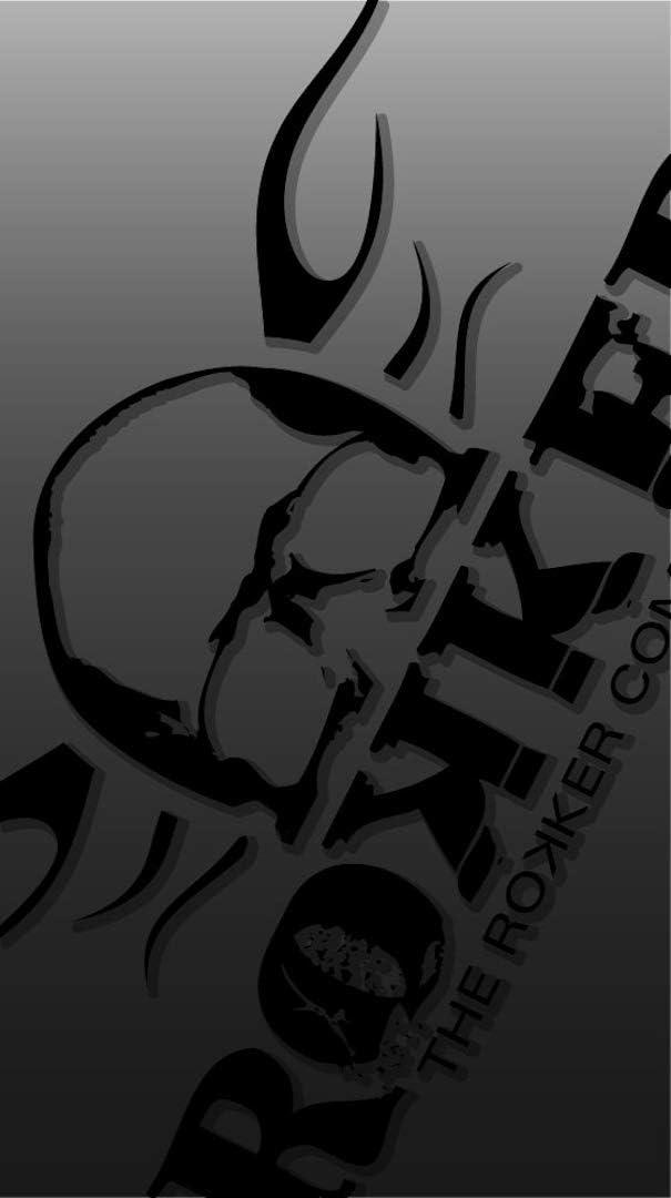 Rokker Tube RKK Logo 3D Multifunktionstuch Schwarz//Rot
