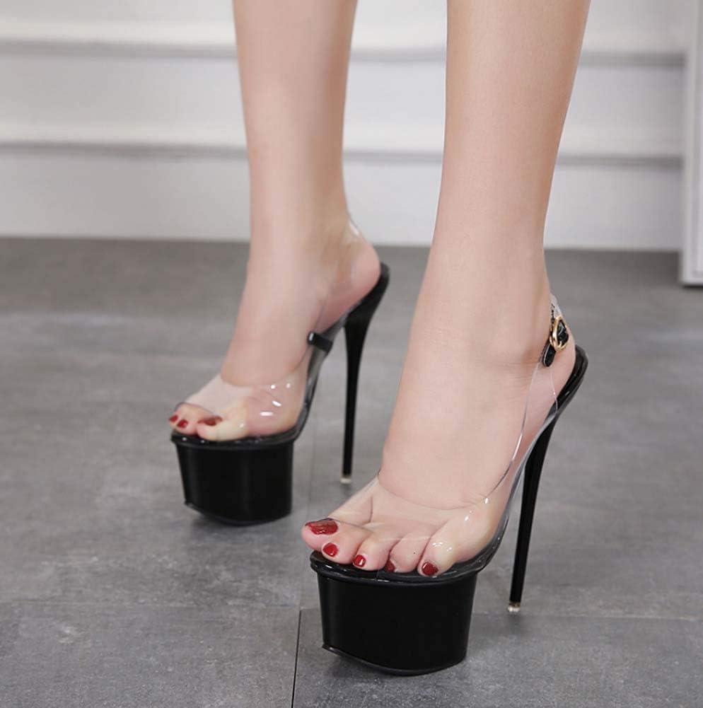 GHFJDO Damen Stripper Schuhe Sandale, Mit Knöchelriemen