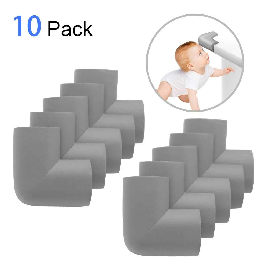 Corner Guards | Soft Baby Proofing Corner Guards & Edge Protectors | Table Protectors | Pre-Taped Corners | Premium Furniture Corner Safety Bumpers | Kids Safety Corner Guard Protector (10 pack) TaoZe