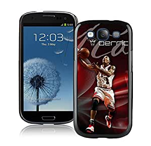 New Custom Design Cover Case For Samsung Galaxy S3 I9300 Chicago Bulls Rose 1 Black Phone Case