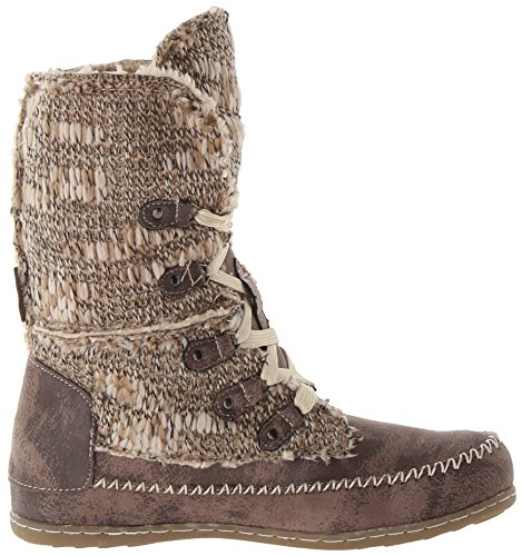Muk Luks Womens Lilly Lace Up Fashion Boot Grigio