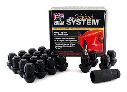 - Gorilla Automotive 96643BDX Black Factory Style Wheel Lock System (14mm x 1.50 Thread Size, 20-Pack)