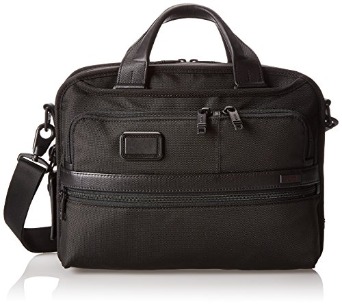 Tumi Alpha 2 Small Screen Expandable Laptop Brief, Black, One (Expandable Leather Laptop Brief)