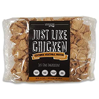 Textured Vegetable Protein, 100% Certified Non-GMO Soybeans, 100% Vegan,  Made in USA, All Natural, Gluten Free, MSG Free, Imitation Meat, Just Like