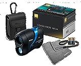 Nikon Golf Coolshot 80i VR (Slope) Golf Laser Rangefinder Bundle | Includes Vibration-Reduction/Waterproof Rangefinder, Carrying Case, PlayBetter Microfiber Towel and Two (2) CR2 Batteries