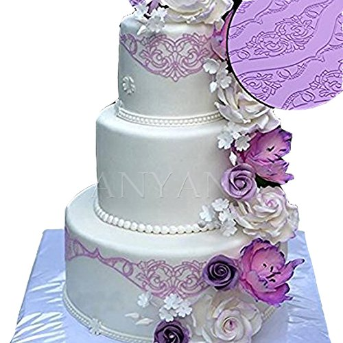 - Huge baking Fondant sugar lace Silicone Mat wedding Cake Decorating mold european vintage edible Lace Embossed Sugarcraft Tools for cupcake topper decoration Anyana