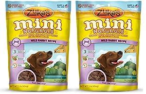 Zukes Mini Naturals TFFwD Healthy Moist Training Treats, Wild Rabbit, 1 Pound (2 Pack)