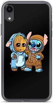 Baby Groot & Stitch Coque antichoc anti-rayures pour iPhone X/XS ...