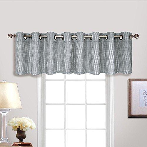 United Curtain Hamden Grommet Top Window Valance