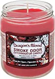 Smoke Odor Exterminator 13oz Jar Candle, Dragon's Blood, 13 oz