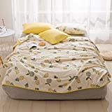 KFZ Quilt Comforter Cotton Bedspread Bed Cover for Bedding Set Quilted Quilt CJF Twin Full Queen Fruit Pineapple Banana Design for Adults Kids Teens 1pc (Sweet Pineapple, Gold, Twin 59''x79'')