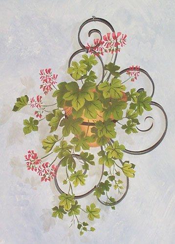 Geranium Vine Wall Stencil - DEE572 by DeeSigns (Geranium Vine)