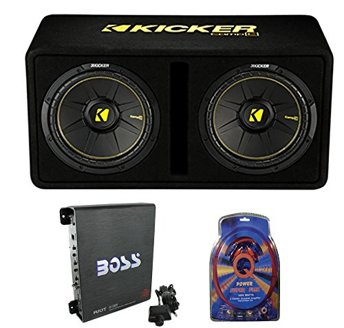 1200W Car Audio Subwoofer Sub Enclosure+Mono Amplifier Amp ()