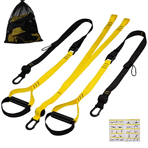 Sea area sports Bodyweight Resistance Straps Kit,Professional Gym Workouts for Home, Travel, and Outdoor.