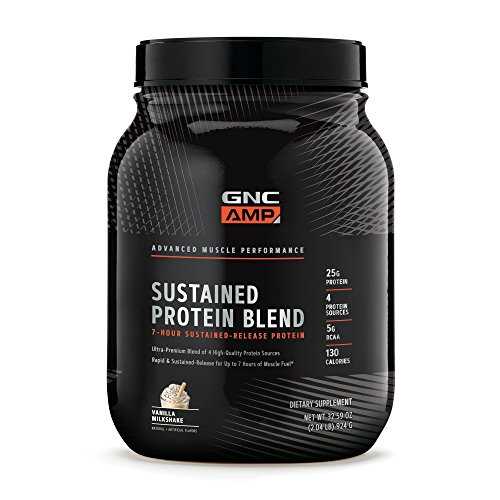 GNC AMP Sustained Protein Blend - Vanilla Milkshake