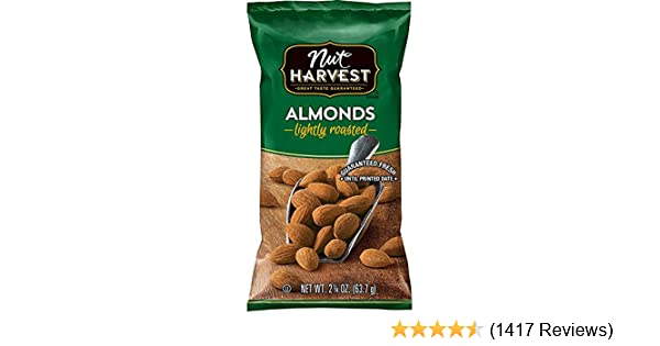 Nut Harvest Lightly Roasted Almonds, 2.25 Ounce (Pack of 16)
