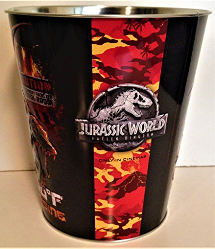 Jurassic World: Fallen Kingdom Movie Theater Exclusive 130 oz Metal Embossed Popcorn Tin #2