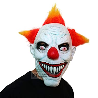 Jizhen Máscara de Halloween Disfraz de Halloween Disfraz de horror Máscara de payaso asesino, Máscara