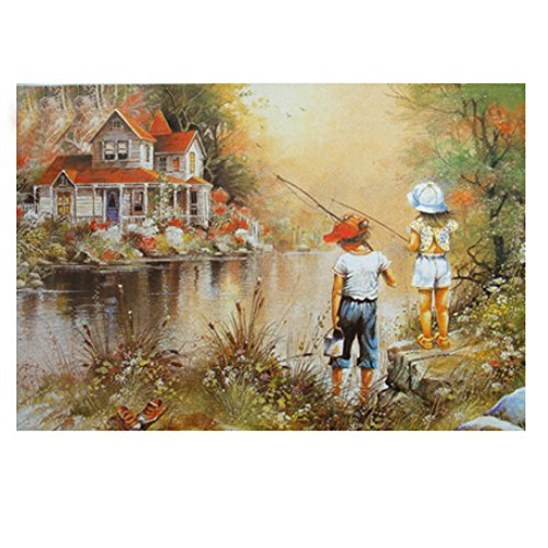 Aesthetic And Beautiful 1000 Piece Jigsaw Puzzle, Fishing